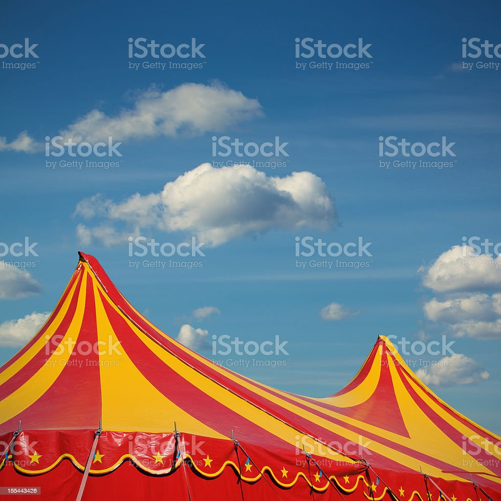 The circus comes to town stock photo