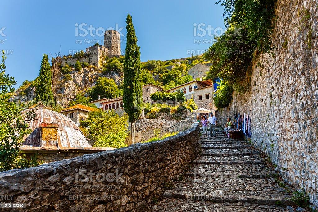 The Citadel of Pocitelj stock photo