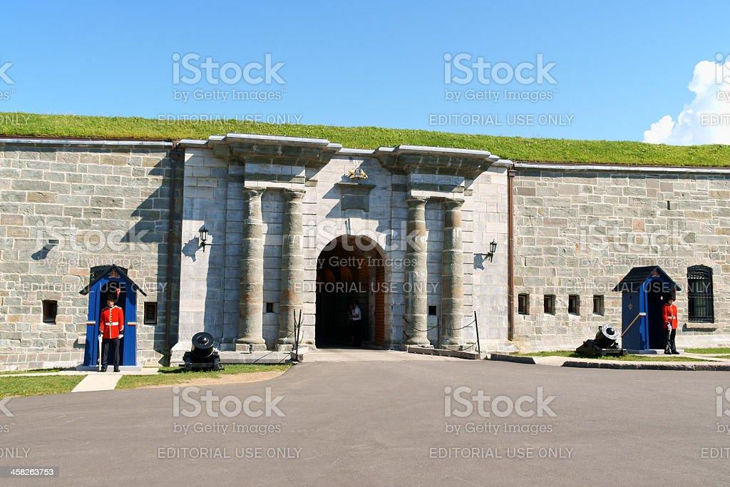 The Citadelle of Quebec City stock photo