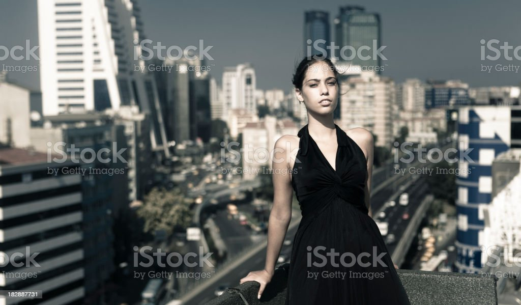The City and women royalty-free stock photo