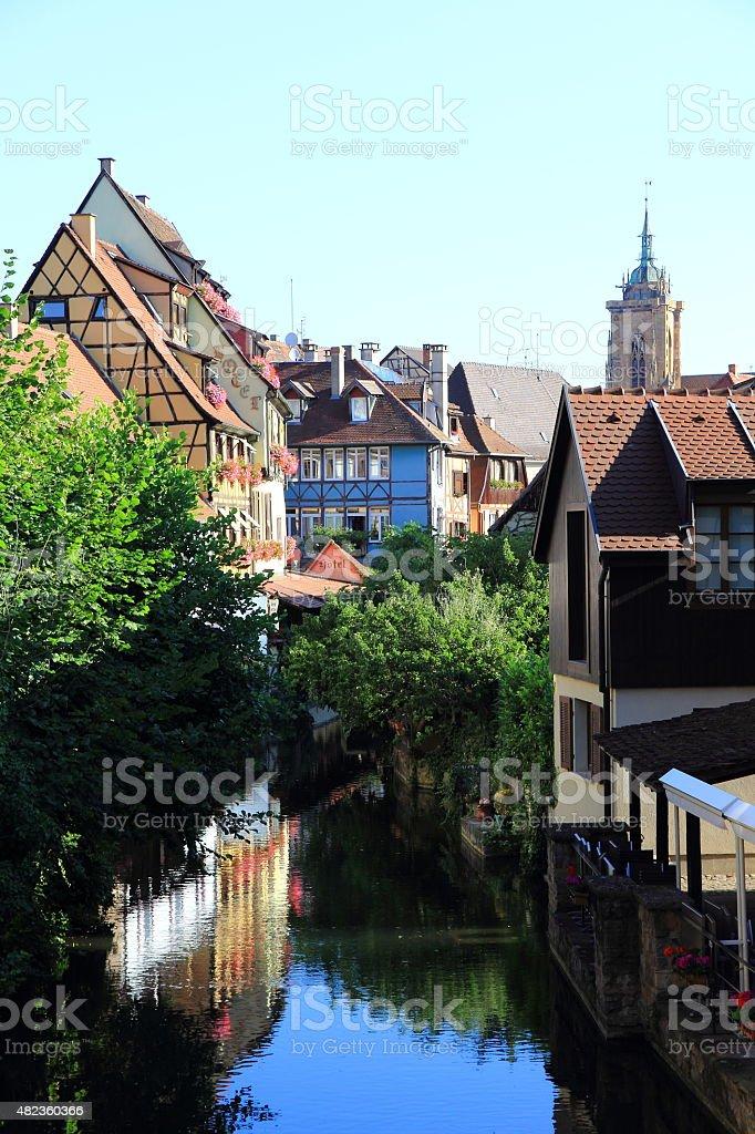 The city center of Colmar stock photo