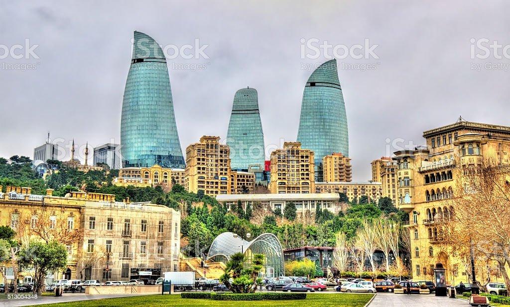 The city centre of Baku stock photo