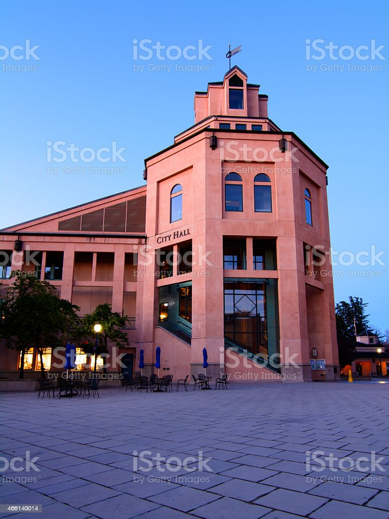 The City Hall building in Mountain View, California stock photo