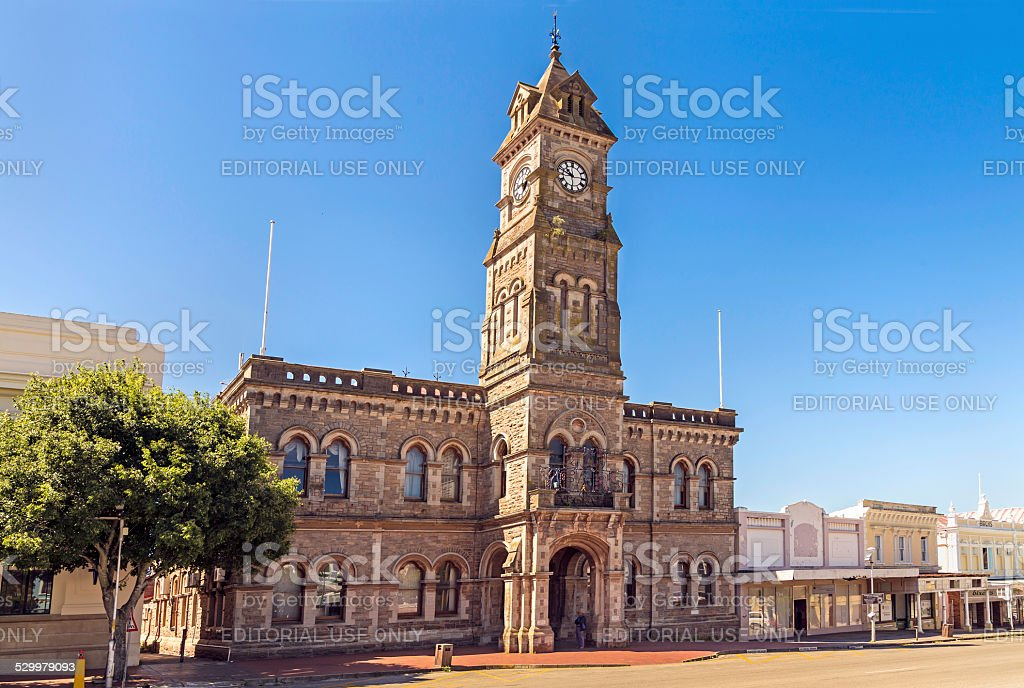 The City Hall in Grahamstown, South Africa stock photo