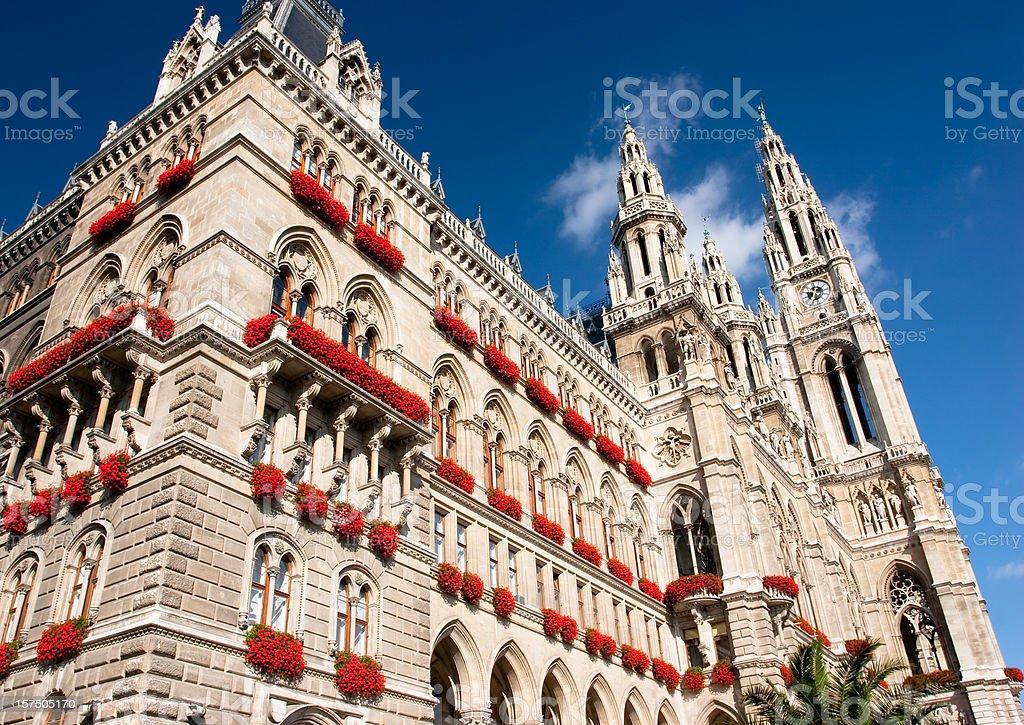 The City Hall in Wien, Austria stock photo