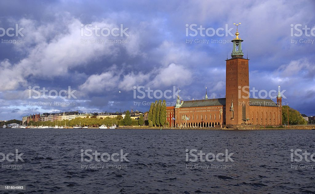 The City Hall. Stockholm royalty-free stock photo