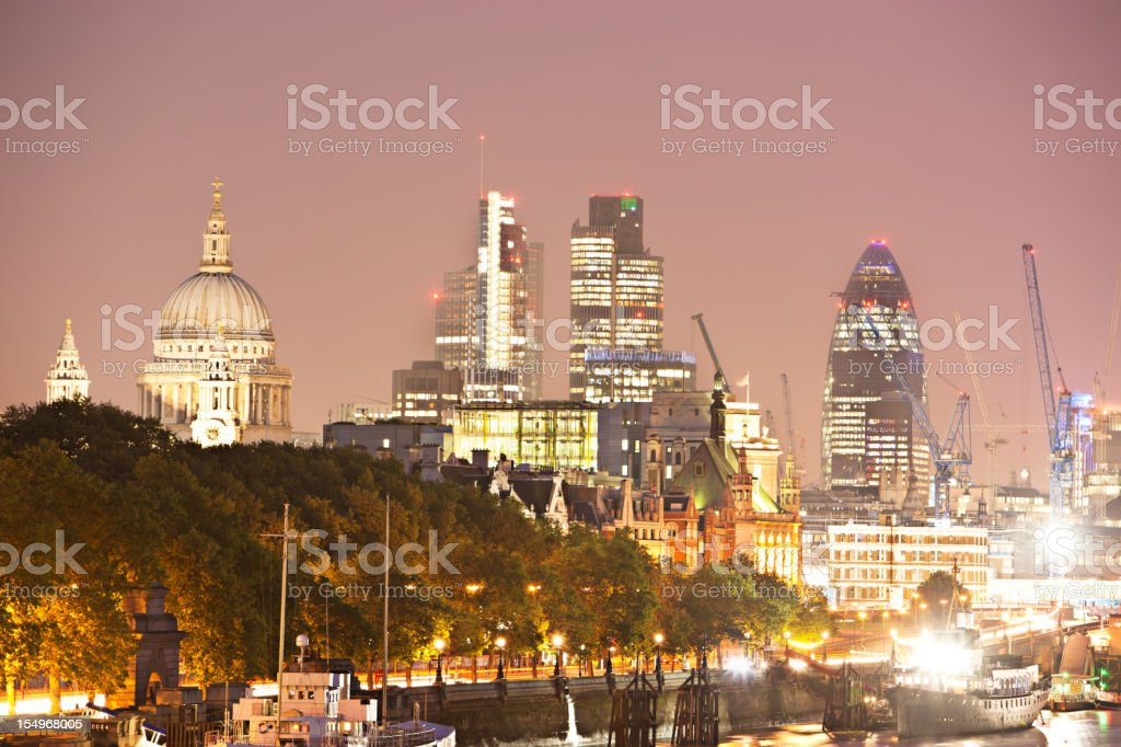 The city in London royalty-free stock photo