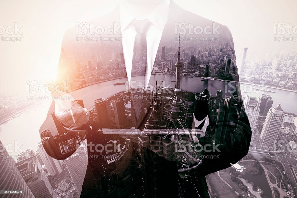 The city is the focus stock photo