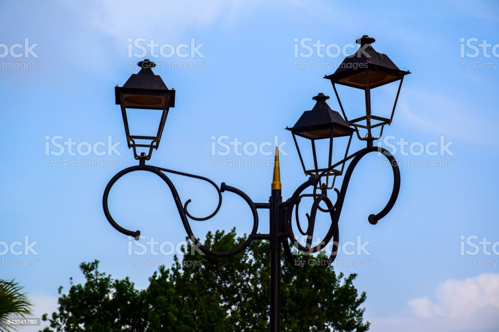 The city lamp stock photo
