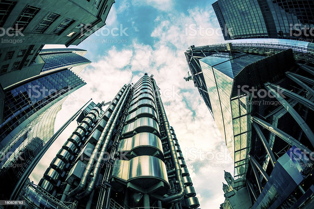 The City, London's Business Center stock photo
