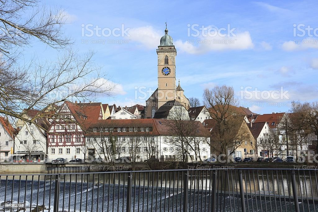 The city Nuertingen in Germany royalty-free stock photo