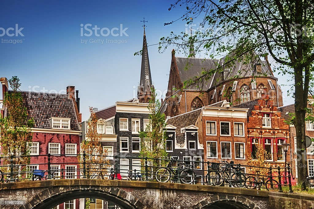 The City of Amsterdam, Netherlands stock photo