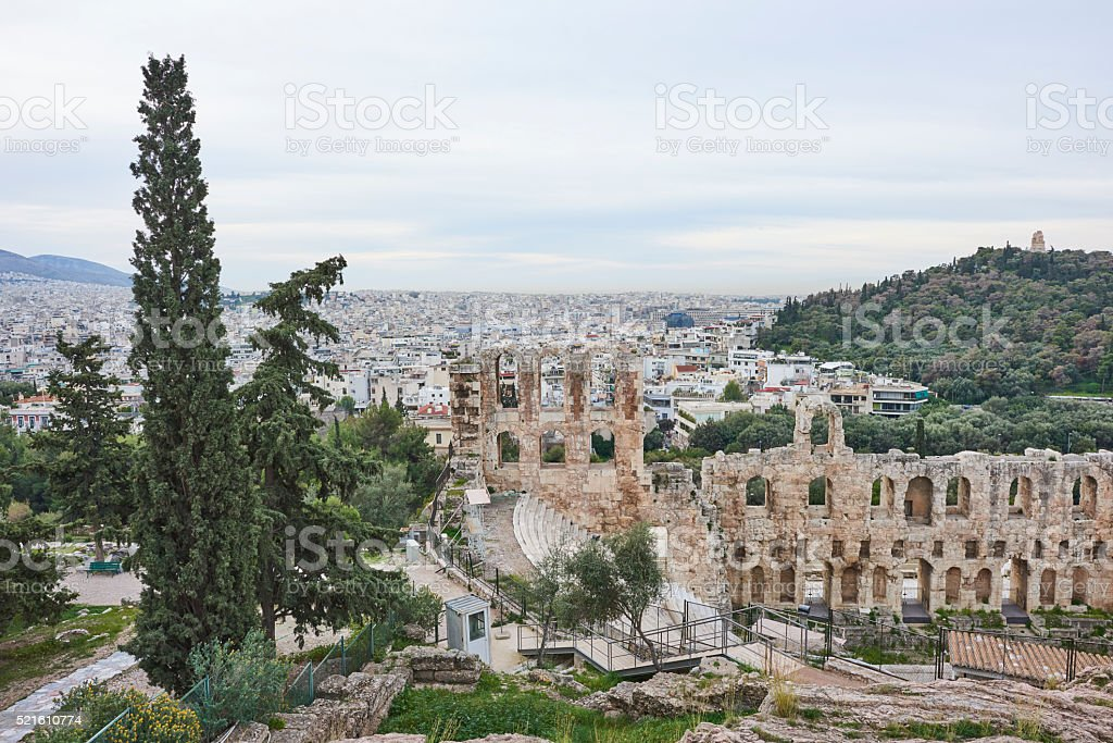 The City of Athens Seen from Acropolis stock photo