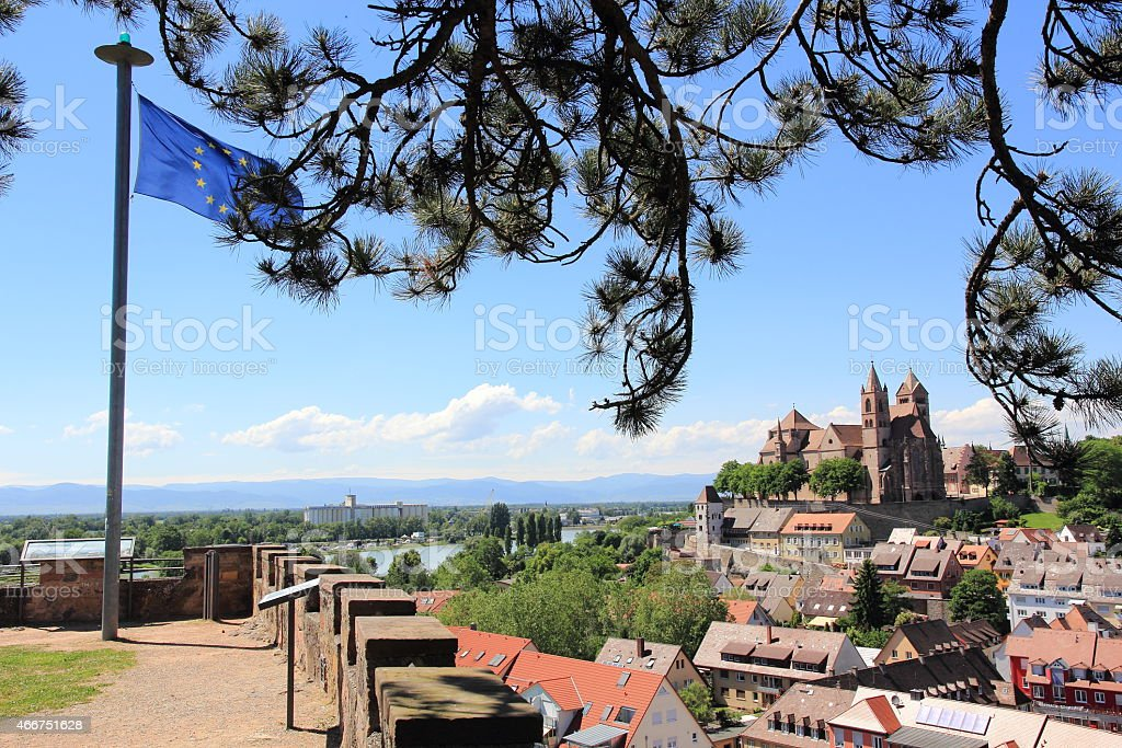The city of Breisach in Germany stock photo