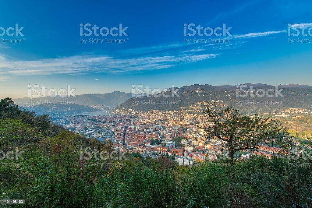 The city of Como stock photo