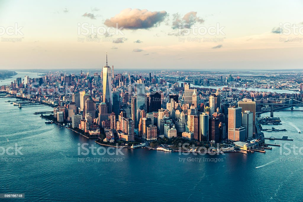The City of Dreams, New York City's Skyline at Twilight stock photo