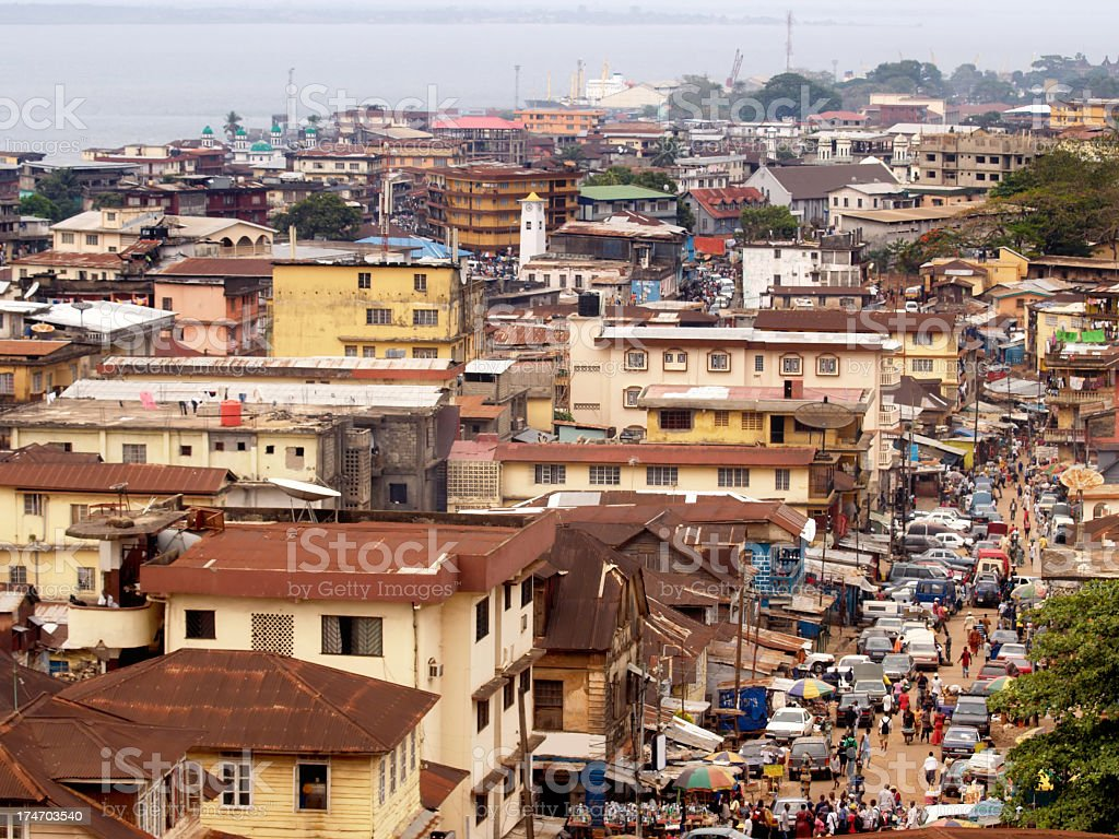 The city of Freetown, Sierra Leone stock photo