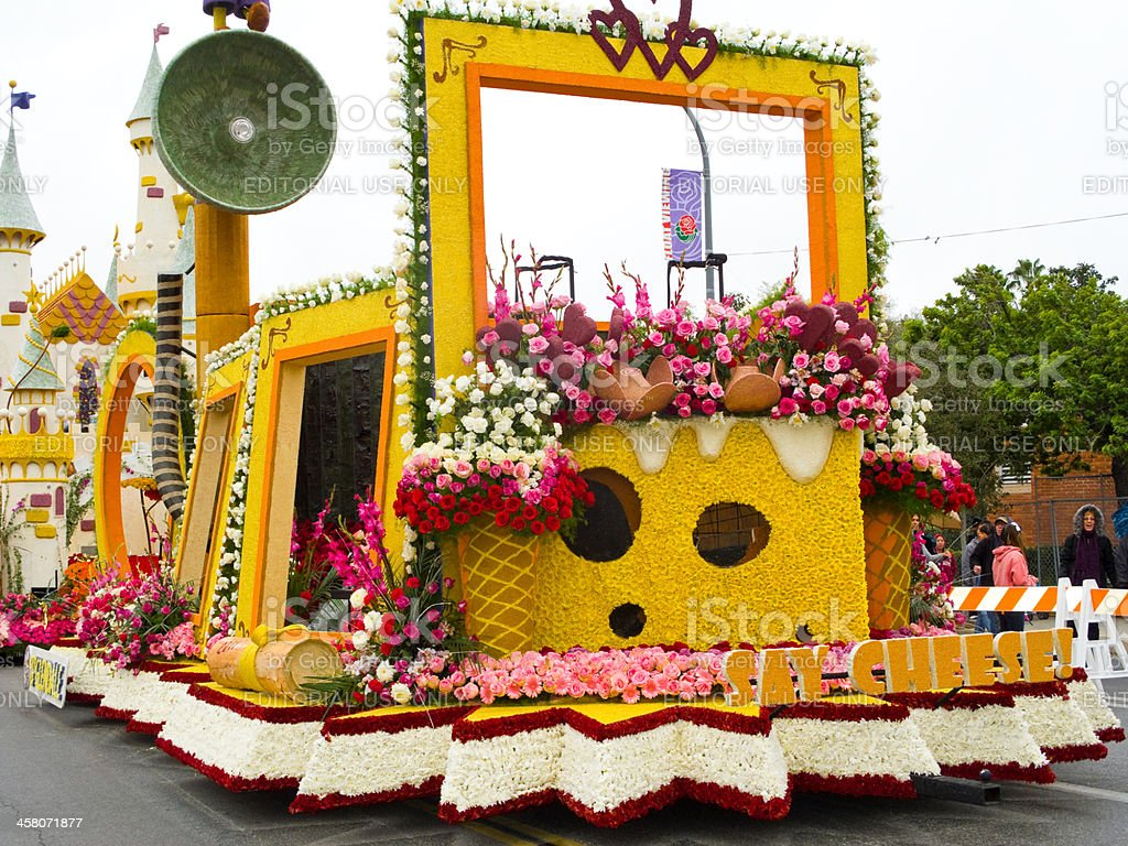 The City of Glendale Rose Parade float stock photo