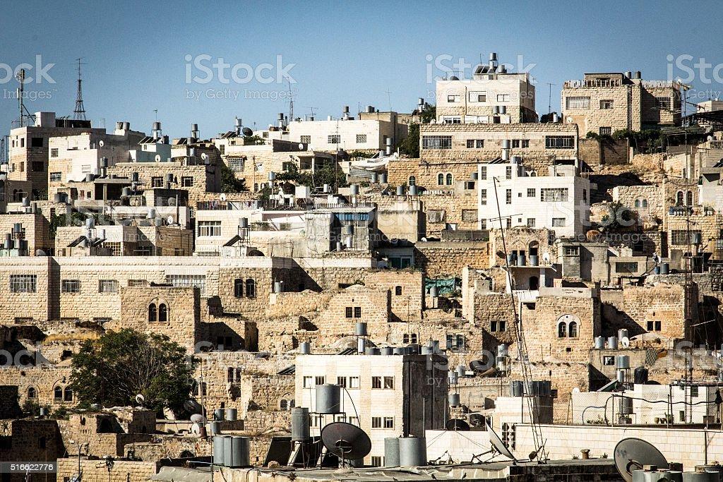 The city of Hebron stock photo