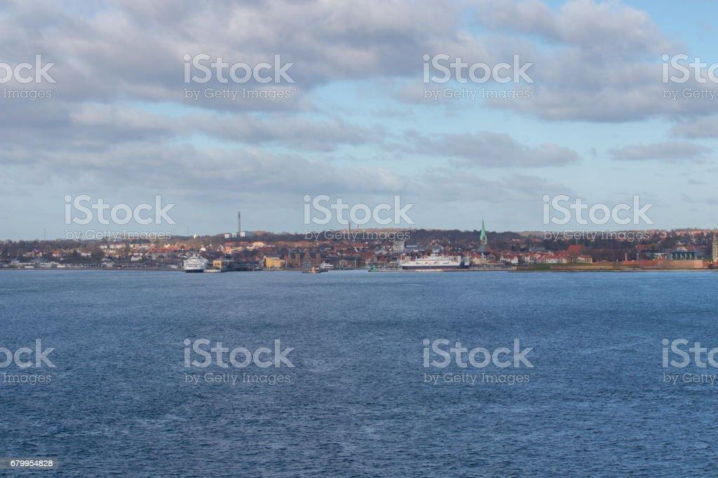 The city of Helsingor stock photo