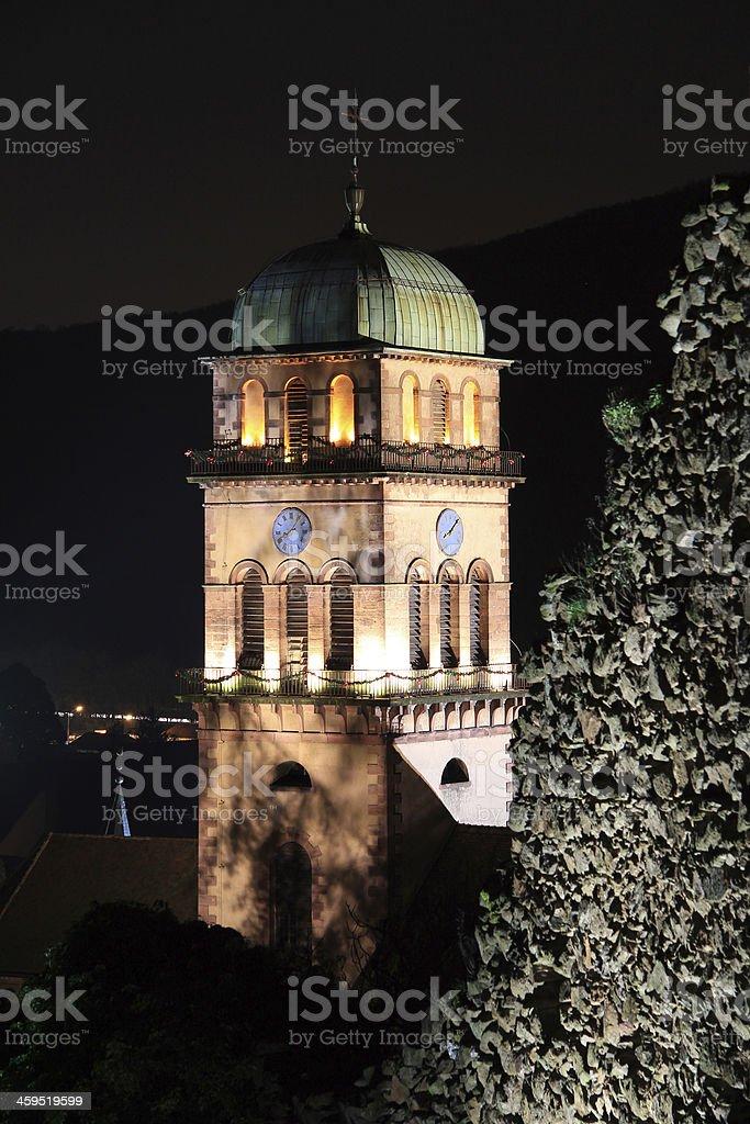 The city of Kaysersberg at Christmas stock photo