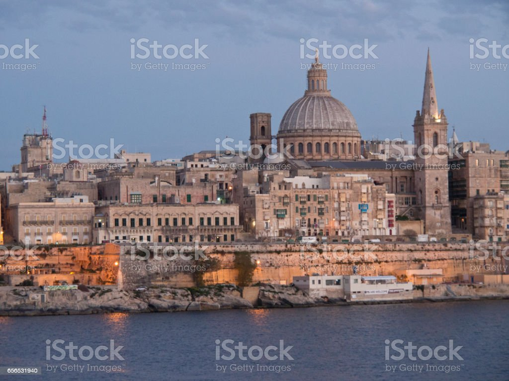 the city of la valletta stock photo