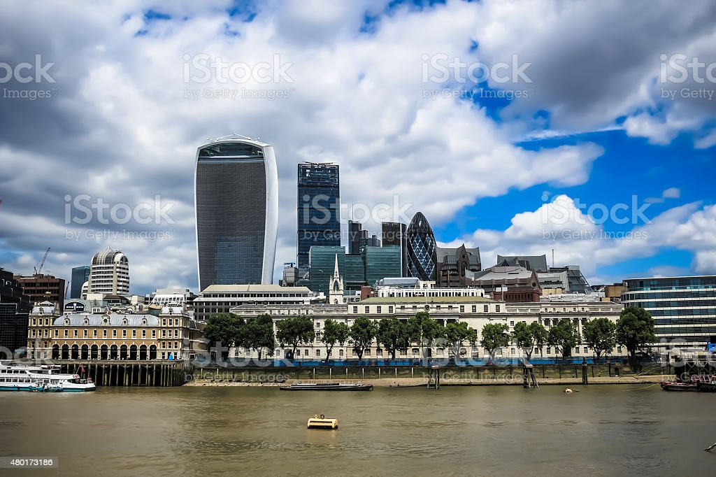 The city of London and the river Thames stock photo