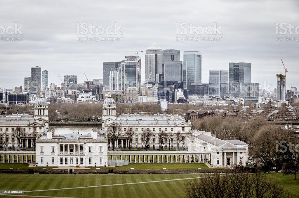 The City of London - Canary Wharf stock photo