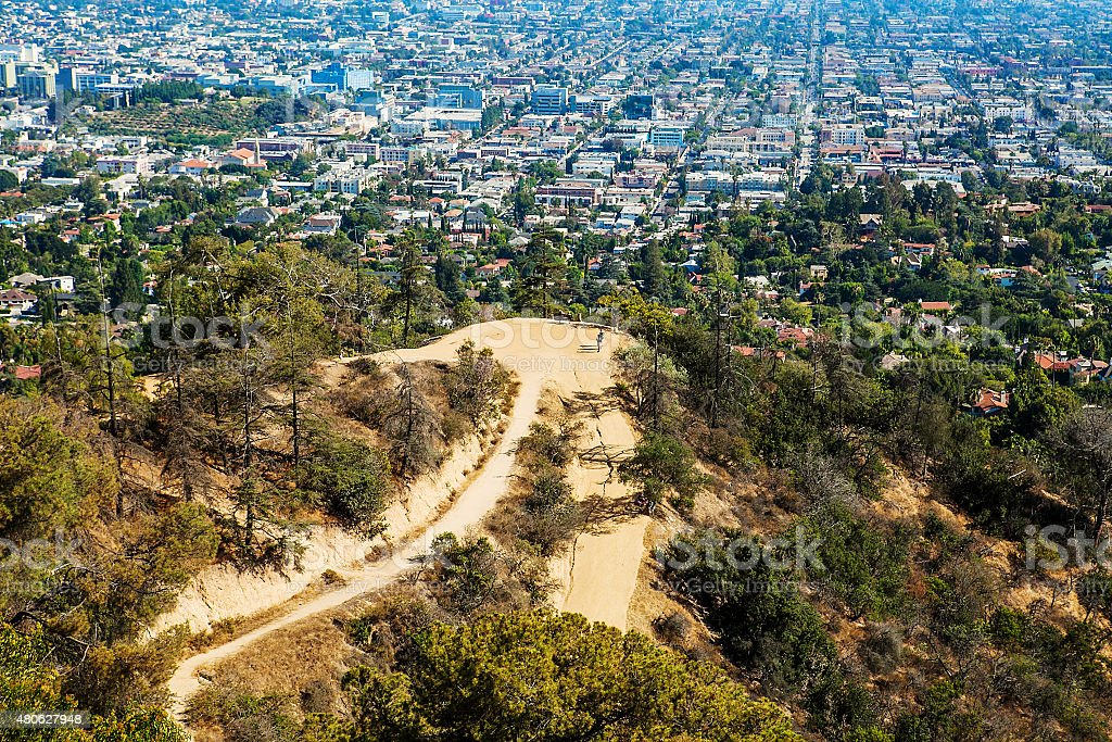 The city of Los Angeles as seen from Griffith Park stock photo