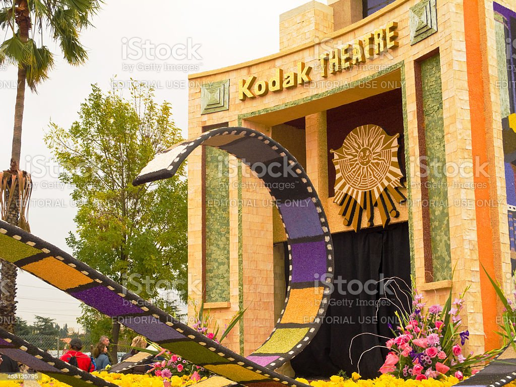 The City of Los Angeles Rose Parade Float stock photo