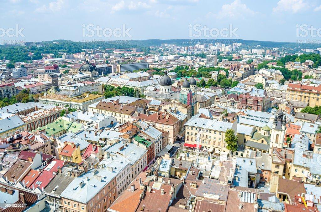 The city of Lviv stock photo