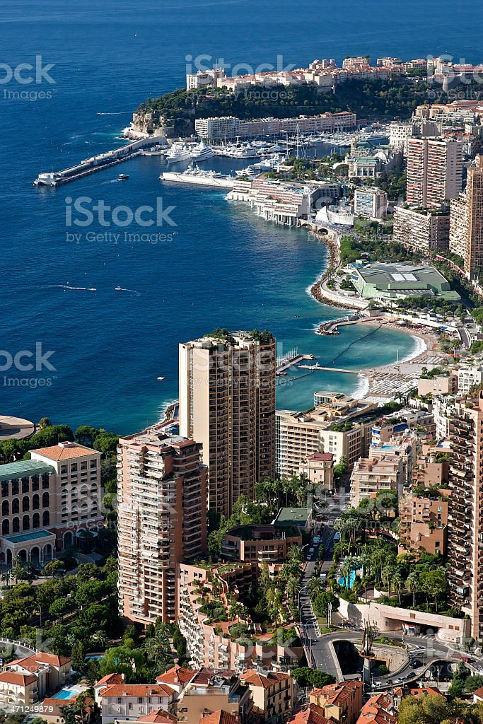 The city of Monaco royalty-free stock photo