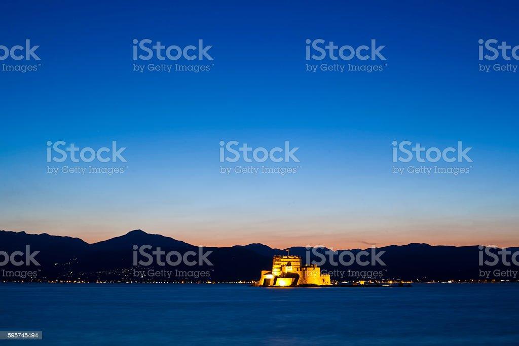 The city of Nafplio stock photo