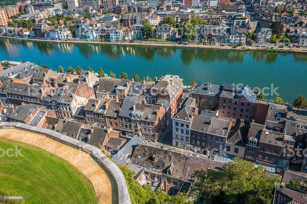 The city of Namur in Belgium stock photo