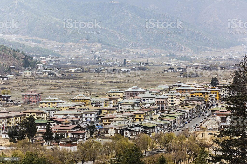 The city of Paro stock photo