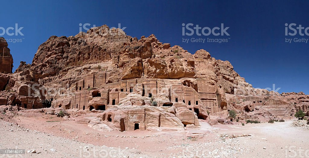 The city of Petra stock photo