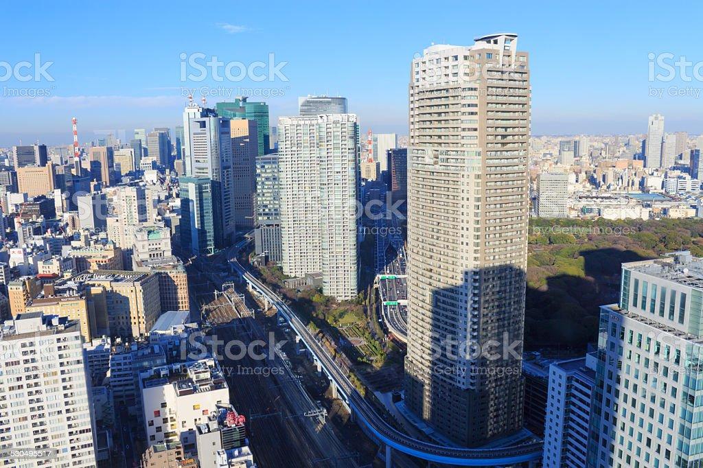 The city of Tokyo, Skyscraper at Shinagawa stock photo