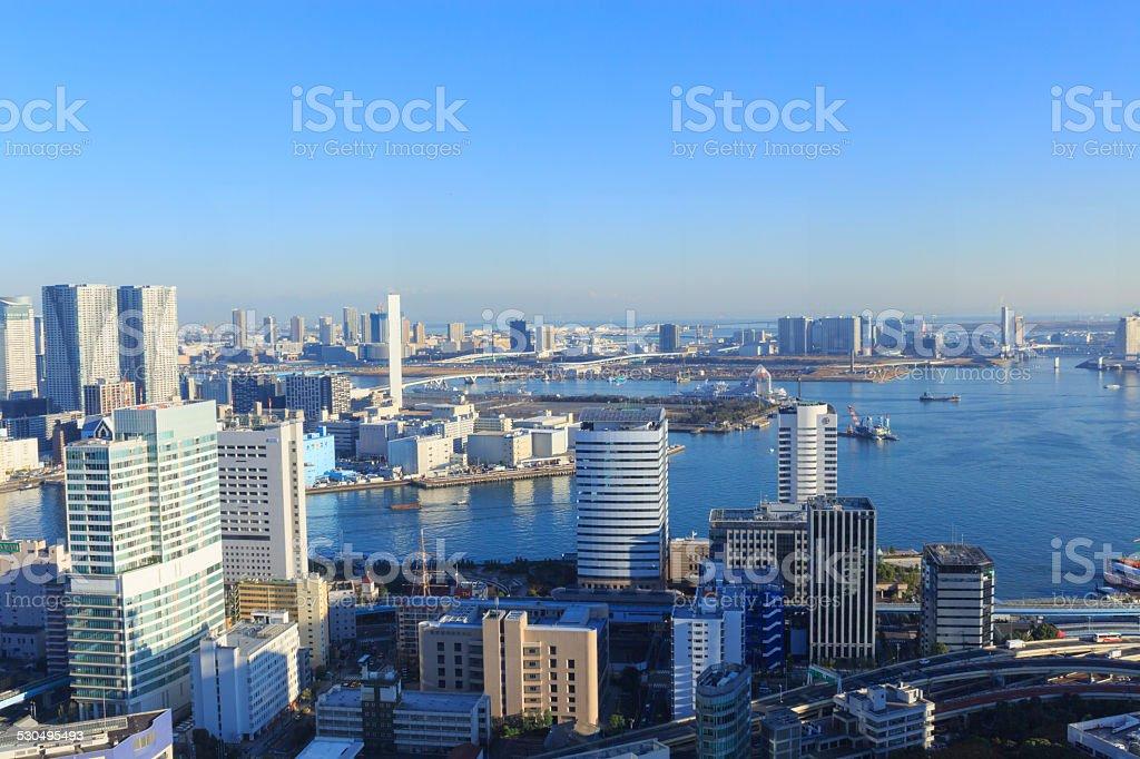 The city of Tokyo, Skyscraper at Tokyo bay area stock photo