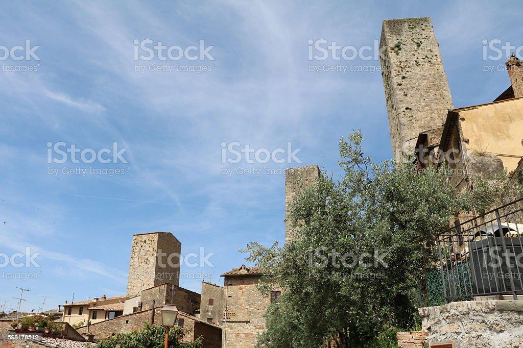 The City of Towers San Gimignano in Tuscany Italy stock photo