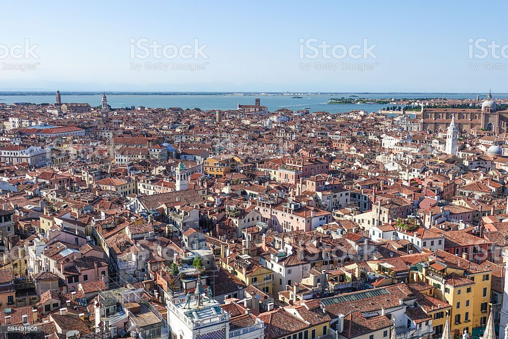 The City of Venice - amazing aerial view Lizenzfreies stock-foto
