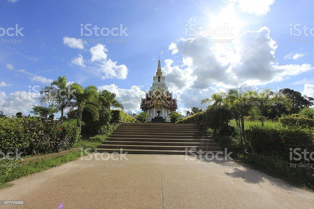 The City Pillar Shrine and sky royalty-free stock photo