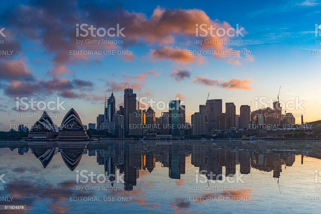 The city skyline of Sydney, Australia stock photo