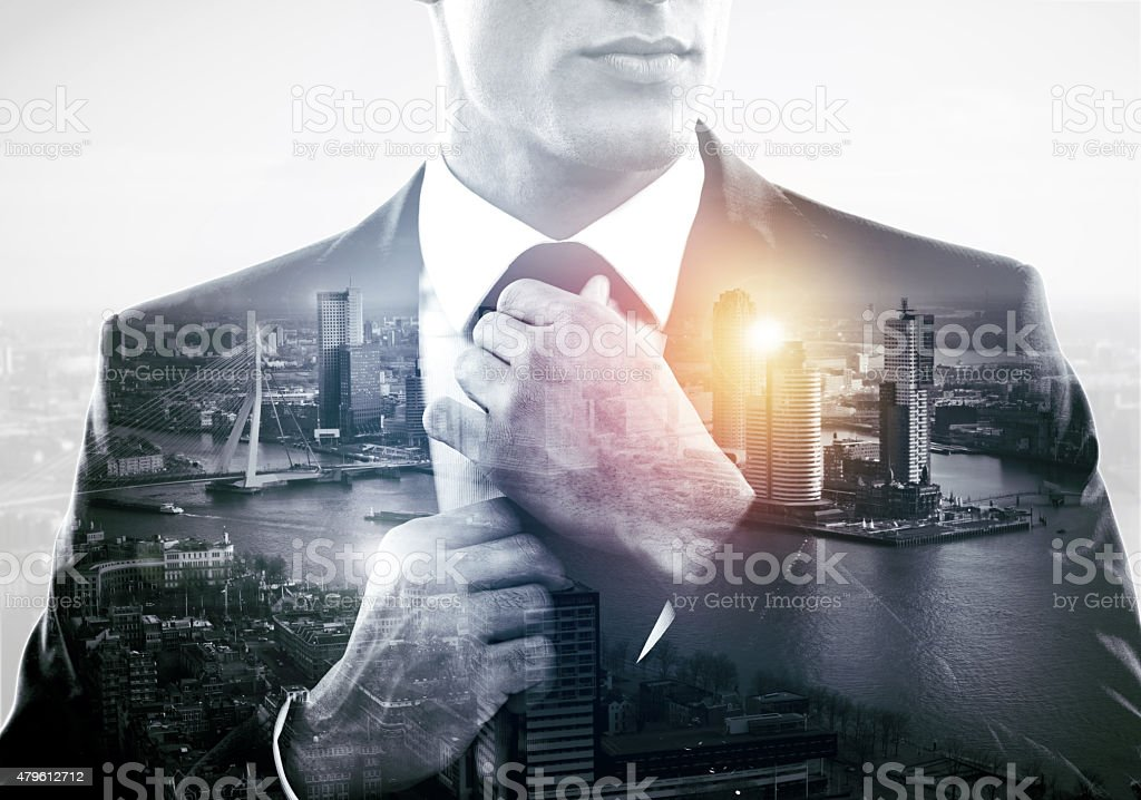 The city that demands respect stock photo