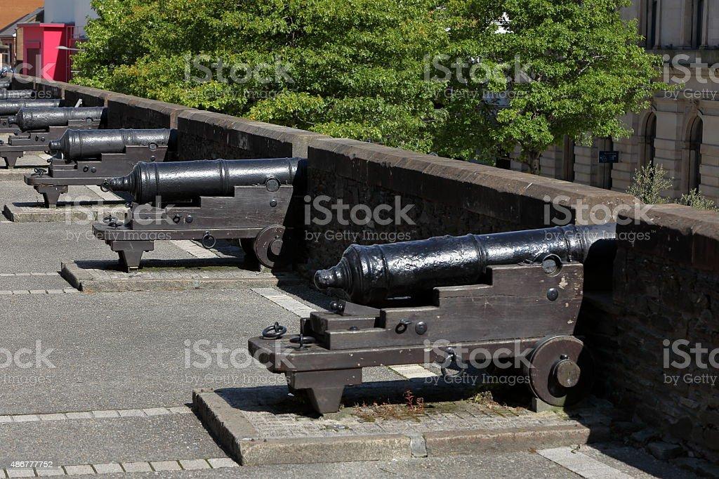Die Stadtmauer von Derry in Nordirland stock photo
