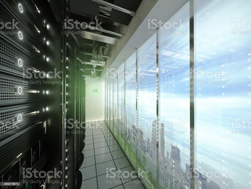 The City's Brain-Data center in the City stock photo