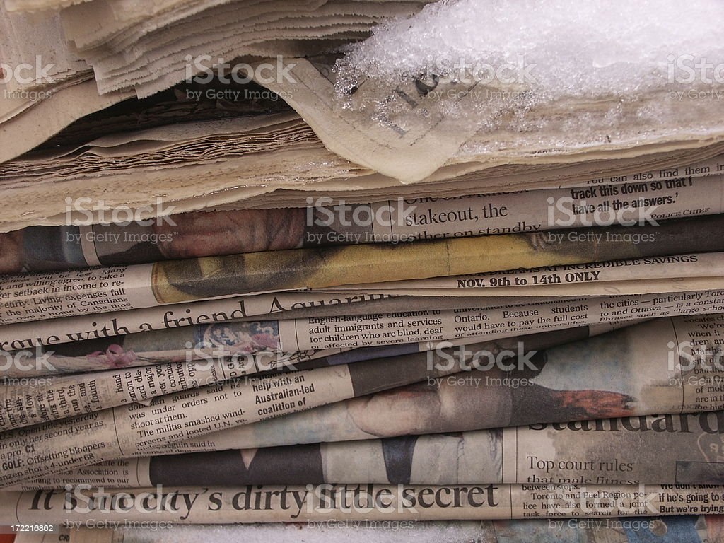 The City's Dirty Little Secret royalty-free stock photo