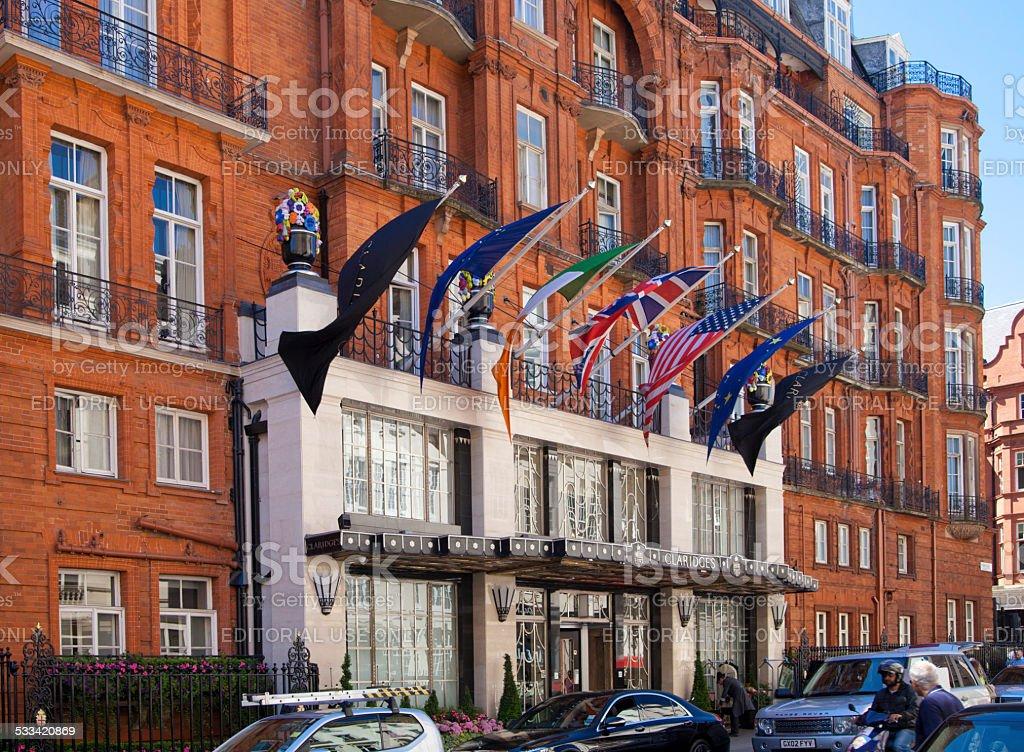 The Claridges hotel, main entrance. London stock photo