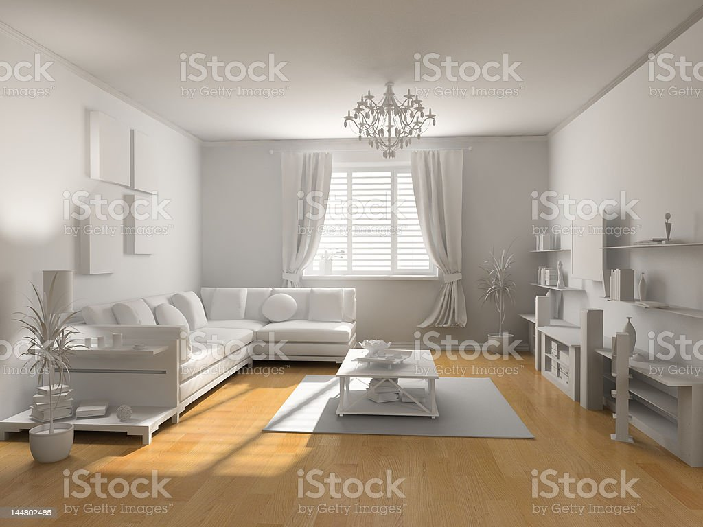 the classic blank interior royalty-free stock photo