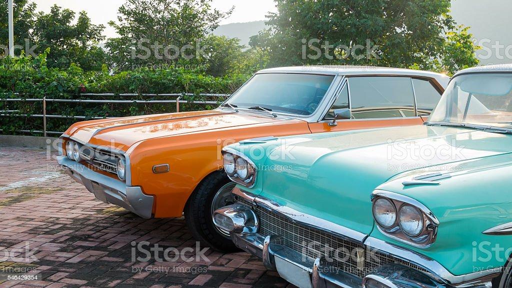 The classic cars Lizenzfreies stock-foto