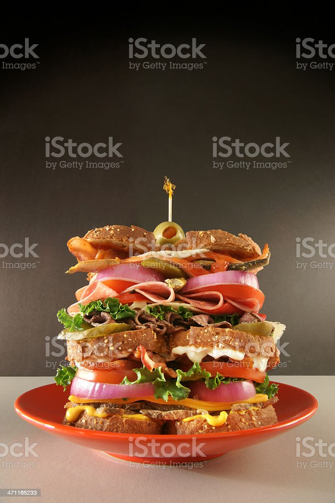 The Classic Dagwood royalty-free stock photo